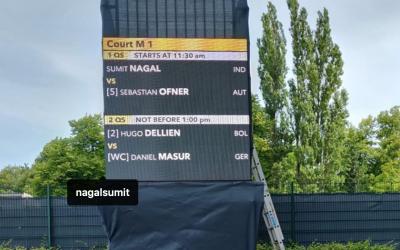 Sumit Nagal gewinnt sein Auftaktspiel beim ATB 500 in Hamburg (Quali)